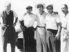Ekipa Lancii startująca w Carrera Panamericana 1953. Taruffi, Bonetto, Castellotti, Fangio i Bracco