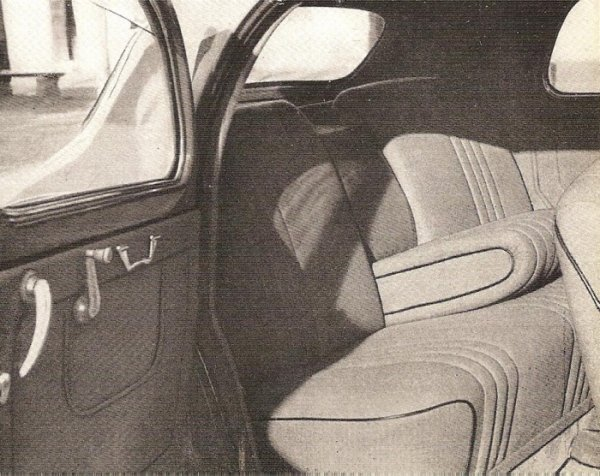 Lancia Aurelia B10 wnętrze