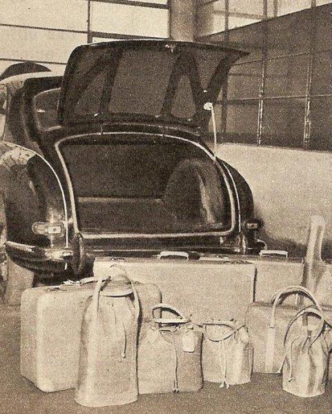 Lancia Aurelia B12 bagażnik