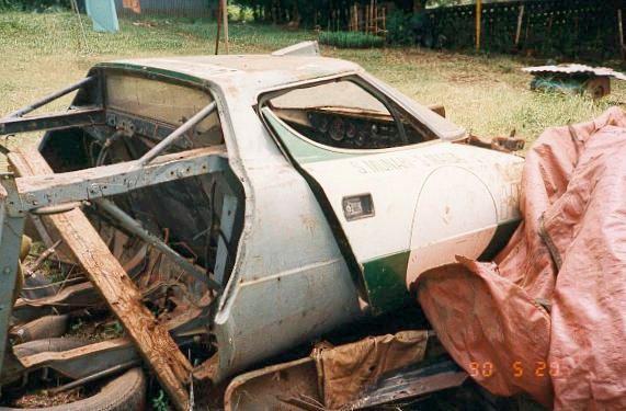 Lancia Stratos znaleziona w Kenii w 1990