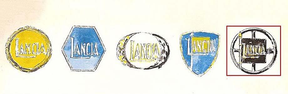 Projekty znaków firmowych Lancii