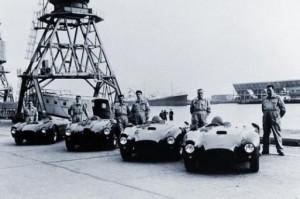 Zwycięski zespół Lancii po powrocie z Carrera Panamericana