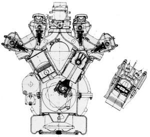 Przekrój silnika Lancii D24